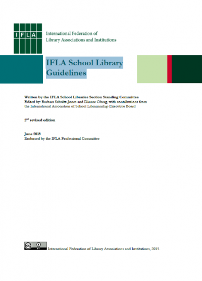 IFLA ร่วมมือกับสมาคมห้องสมุดฯ ดำเนินการแปลคู่มือการดำเนินงานห้องสมุดโรงเรียนอิฟลา ฉบับปรับปรุง  พิมพ์ครั้งที่ 2 (IFLA School Library Guidelines, 2nd revised edition)